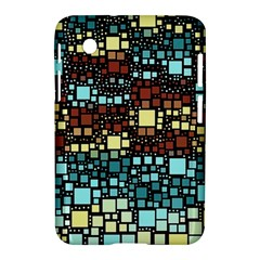 Block On Block, Aqua Samsung Galaxy Tab 2 (7 ) P3100 Hardshell Case  by MoreColorsinLife