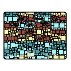 Block On Block, Aqua Double Sided Fleece Blanket (small)  by MoreColorsinLife