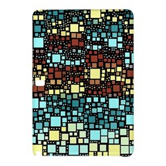 Block On Block, Aqua Samsung Galaxy Tab Pro 12 2 Hardshell Case by MoreColorsinLife