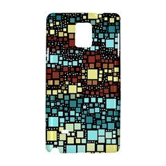 Block On Block, Aqua Samsung Galaxy Note 4 Hardshell Case by MoreColorsinLife