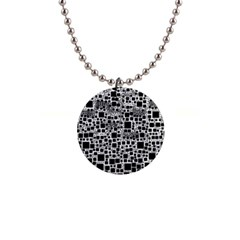 Block On Block, B&w Button Necklaces by MoreColorsinLife