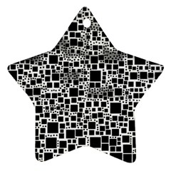 Block On Block, B&w Star Ornament (two Sides)  by MoreColorsinLife