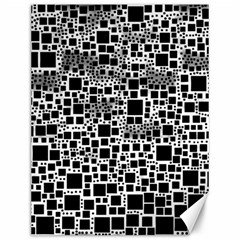 Block On Block, B&w Canvas 12  X 16   by MoreColorsinLife