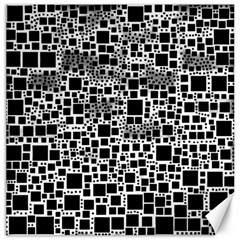 Block On Block, B&w Canvas 20  X 20   by MoreColorsinLife