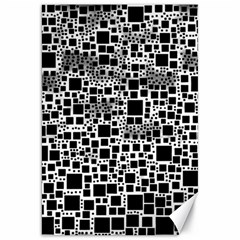 Block On Block, B&w Canvas 20  X 30   by MoreColorsinLife