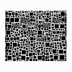 Block On Block, B&w Small Glasses Cloth (2 Side) by MoreColorsinLife
