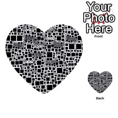 Block On Block, B&w Multi Purpose Cards (heart)  by MoreColorsinLife