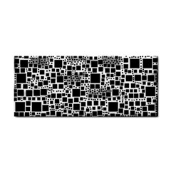 Block On Block, B&w Hand Towel by MoreColorsinLife