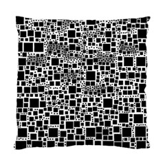 Block On Block, B&w Standard Cushion Case (one Side) by MoreColorsinLife
