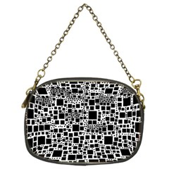 Block On Block, B&w Chain Purses (Two Sides)