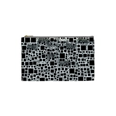 Block On Block, B&w Cosmetic Bag (small)
