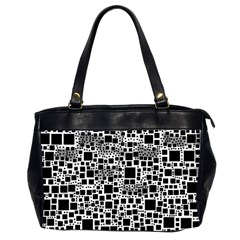 Block On Block, B&w Office Handbags (2 Sides)  by MoreColorsinLife