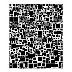 Block On Block, B&w Shower Curtain 60  X 72  (medium)  by MoreColorsinLife