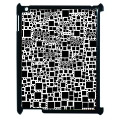 Block On Block, B&w Apple Ipad 2 Case (black) by MoreColorsinLife