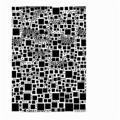 Block On Block, B&w Large Garden Flag (Two Sides)