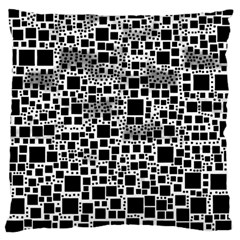 Block On Block, B&w Large Cushion Case (two Sides) by MoreColorsinLife