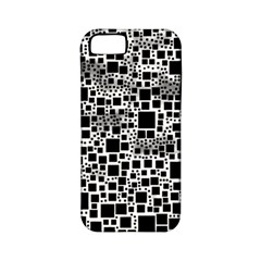 Block On Block, B&w Apple iPhone 5 Classic Hardshell Case (PC+Silicone)