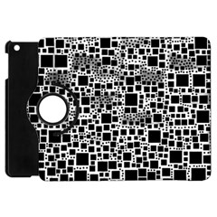 Block On Block, B&w Apple Ipad Mini Flip 360 Case by MoreColorsinLife