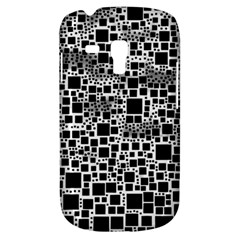 Block On Block, B&w Samsung Galaxy S3 Mini I8190 Hardshell Case by MoreColorsinLife