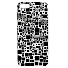 Block On Block, B&w Apple iPhone 5 Hardshell Case with Stand