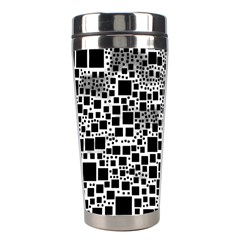 Block On Block, B&w Stainless Steel Travel Tumblers