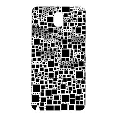 Block On Block, B&w Samsung Galaxy Note 3 N9005 Hardshell Back Case by MoreColorsinLife