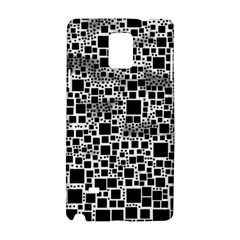 Block On Block, B&w Samsung Galaxy Note 4 Hardshell Case by MoreColorsinLife