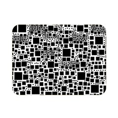 Block On Block, B&w Double Sided Flano Blanket (mini)  by MoreColorsinLife