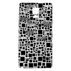 Block On Block, B&w Galaxy Note 4 Back Case by MoreColorsinLife