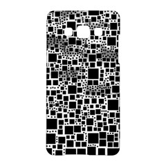 Block On Block, B&w Samsung Galaxy A5 Hardshell Case  by MoreColorsinLife