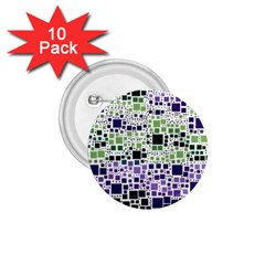 Block On Block, Purple 1 75  Buttons (10 Pack) by MoreColorsinLife