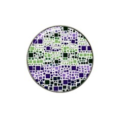 Block On Block, Purple Hat Clip Ball Marker by MoreColorsinLife