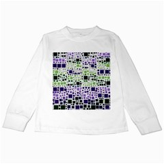 Block On Block, Purple Kids Long Sleeve T Shirts by MoreColorsinLife