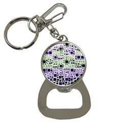 Block On Block, Purple Bottle Opener Key Chains by MoreColorsinLife