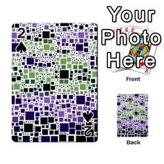 Block On Block, Purple Playing Cards 54 Designs