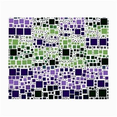 Block On Block, Purple Small Glasses Cloth (2 Side) by MoreColorsinLife