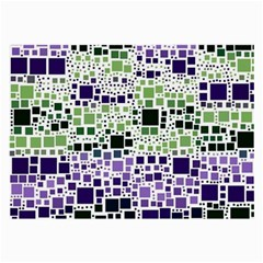 Block On Block, Purple Large Glasses Cloth (2 Side) by MoreColorsinLife