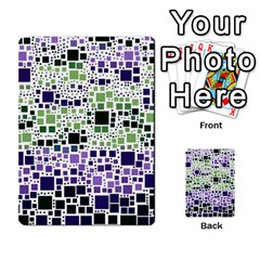 Block On Block, Purple Multi Purpose Cards (rectangle)  by MoreColorsinLife