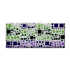 Block On Block, Purple Hand Towel by MoreColorsinLife
