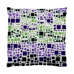 Block On Block, Purple Standard Cushion Case (two Sides) by MoreColorsinLife