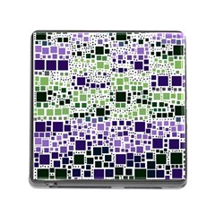 Block On Block, Purple Memory Card Reader (square) by MoreColorsinLife