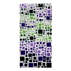Block On Block, Purple Shower Curtain 36  X 72  (stall)  by MoreColorsinLife