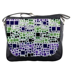 Block On Block, Purple Messenger Bags by MoreColorsinLife