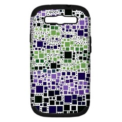 Block On Block, Purple Samsung Galaxy S Iii Hardshell Case (pc+silicone) by MoreColorsinLife