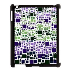Block On Block, Purple Apple Ipad 3/4 Case (black) by MoreColorsinLife