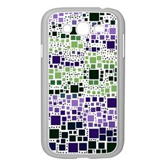 Block On Block, Purple Samsung Galaxy Grand Duos I9082 Case (white) by MoreColorsinLife
