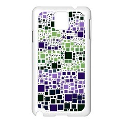 Block On Block, Purple Samsung Galaxy Note 3 N9005 Case (white) by MoreColorsinLife