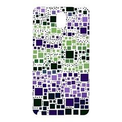 Block On Block, Purple Samsung Galaxy Note 3 N9005 Hardshell Back Case by MoreColorsinLife