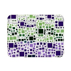 Block On Block, Purple Double Sided Flano Blanket (mini)  by MoreColorsinLife