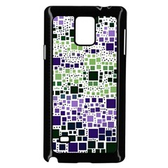 Block On Block, Purple Samsung Galaxy Note 4 Case (black) by MoreColorsinLife